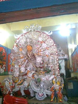 Durga Puja in Odisha - Janhikhai durga in Puri in traditional Kalinga attire
