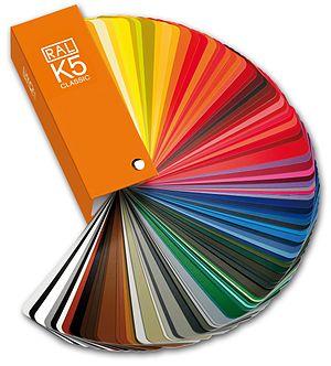 RAL colour standard - RAL CLASSIC K5 colour fan