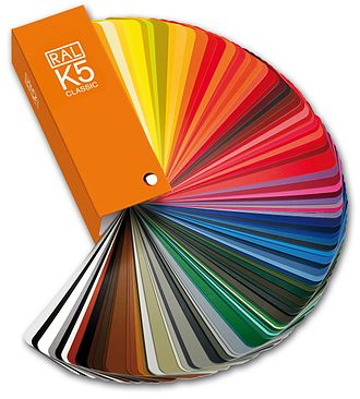 RAL colour standard - RAL CLASSIC K5 colour fan