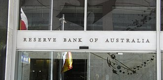 Reserve Bank of Australia building, Sydney - Signage on the building, 2008