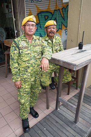 The People's Volunteer Corps - Kuching, Sarawak, Borneo, Malaysia