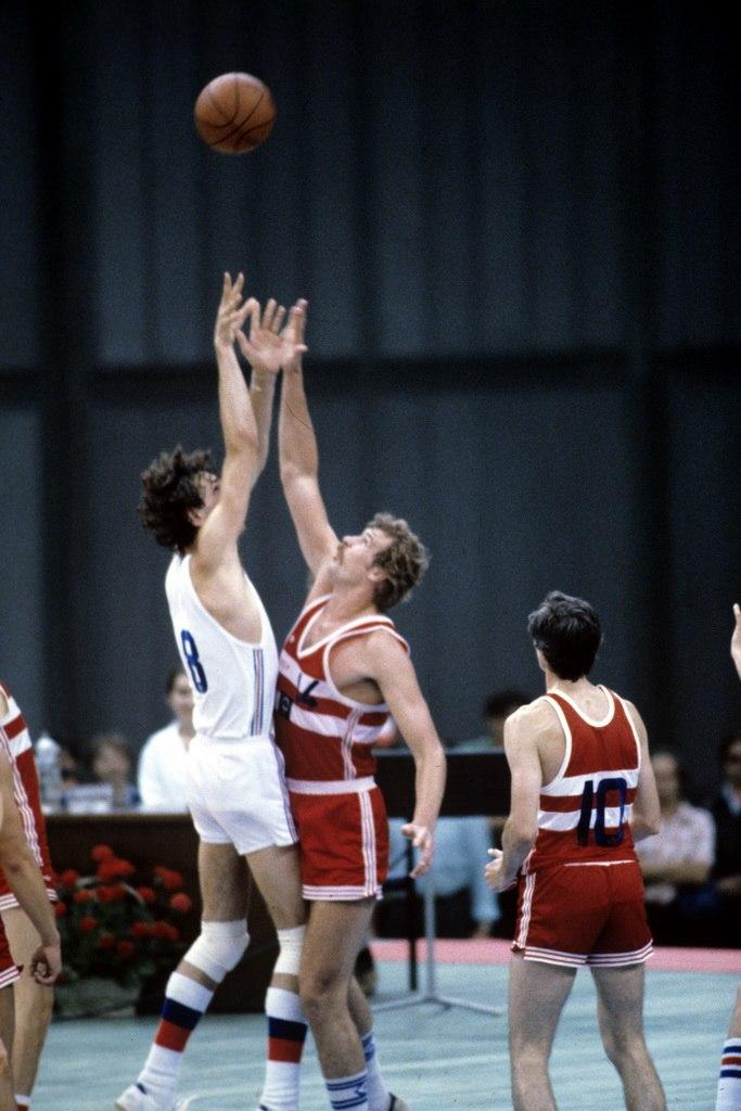 RIAN archive 492659 1980 Olympic Games. Basketball. USSR vs. Czechoslovakia