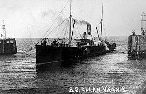 SS Ellan Vannin (1883) - RMS Ellan Vannin pictured entering Ramsey Harbour.