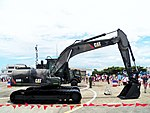 ROCA Caterpillar 320D Excavator Display at Chaiyi Air Force Base 20120811b.jpg