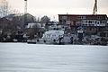 RT-457 breaks ice on Biya river.JPG