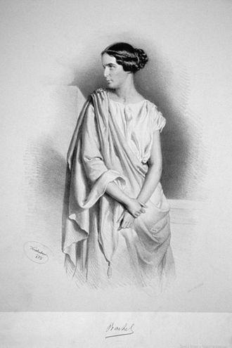Rachel Félix - Portrait by Joseph Kriehuber