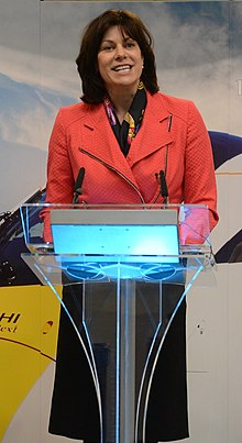 Rail Minister Claire Perry at event in Southampton Port.jpg