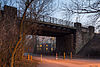 Railroad bridge freight train bypass Tiergarten Kuehnsstrasse Kirchrode Hannover Germany.jpg