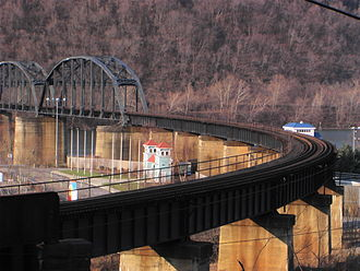 West Homestead, Pennsylvania - AVRR bridge across the Monongahela River