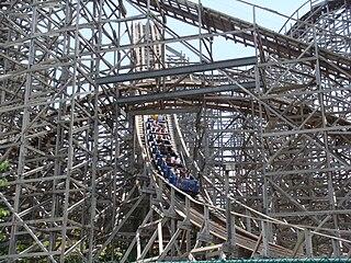Rampage (roller coaster) wooden roller coaster located at Alabama Adventure in Bessemer, Alabama