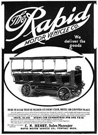 Rapid Motor Vehicle Company - Rapid Motor Vehicle Company of Pontiac, Michigan - 1906