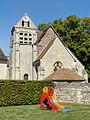 Raray (60), église Saint-Nicolas, vue depuis le sud-est.JPG