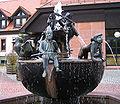 Rathausbrunnen Enkenbach-Alsenborn Enkenbacher Kuckuck, Alsenborner Bajass u Sembacher Wind.jpg