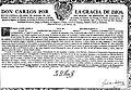 Real Licencia para armar en Guerra Embarcaciones. San Ildefonso, 1779, con firma real (estampilla), orla, capitular y escudo grab, firma en esq. inf. derecha Jph de Galvez (José de Gálvez y Gallardo).jpg