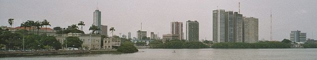 Recife in rainy weather.