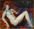 Reclining Nude by Arthur B. Carles, 1915-1921, oil on canvas - New Britain Museum of American Art - DSC09710.JPG