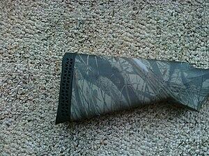 Recoil pad - Image: Recoil Pad Remington 870