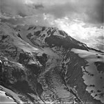 Redoubt Volcano and Glacier, mountain glacier with icefall, September 4, 1977 (GLACIERS 6758).jpg