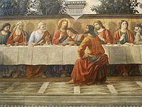 Refettorio di ognissanti, ultima cena del ghirlandaio, 1480, 05.JPG