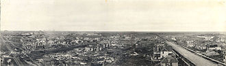 Regina, Saskatchewan - Inner city after Regina Cyclone, 30 June 1912