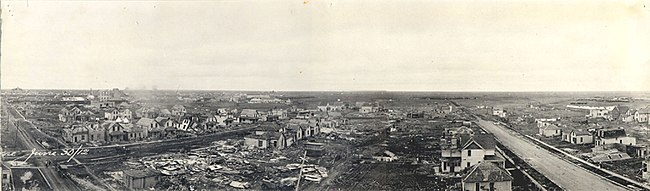 Downtown Regina on 30 June 1912, shortly after the Regina Cyclone.