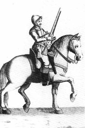 Harquebusier - Harquebusier, carbine-armed cavalry, 17th century