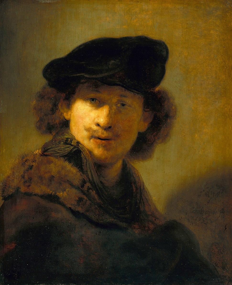 Rembrandt - Self-Portrait with Velvet Beret - Google Art Project