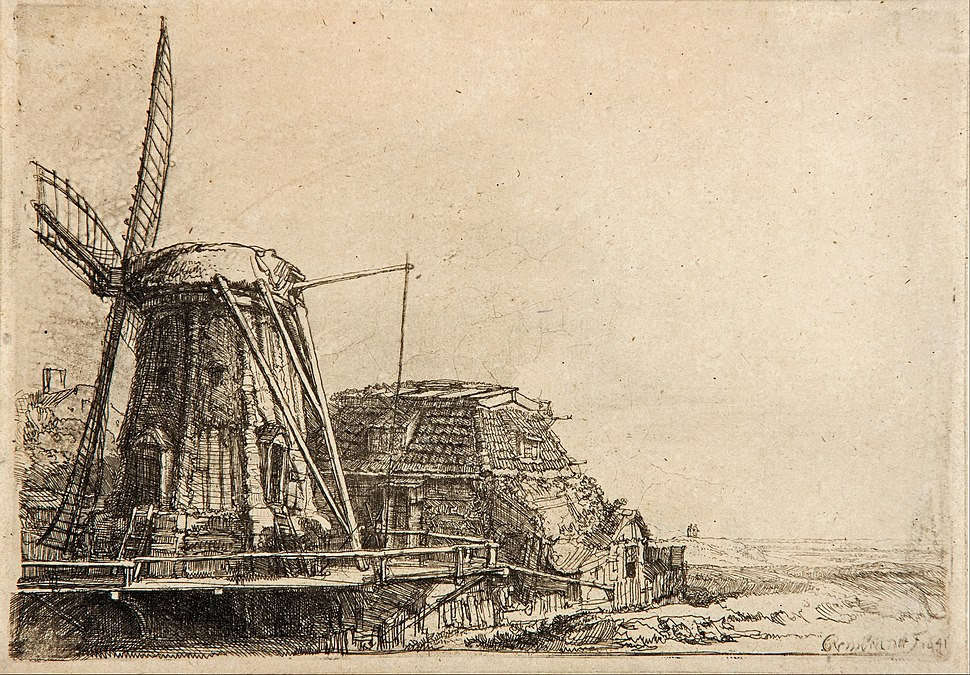Rembrandt - The windmill - Google Art Project