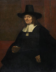 Rembrandt: Portrait of a man in a tall hat