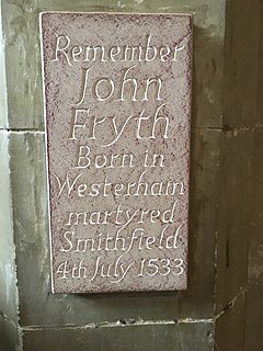 John Frith English Protestant priest, writer, and martyr