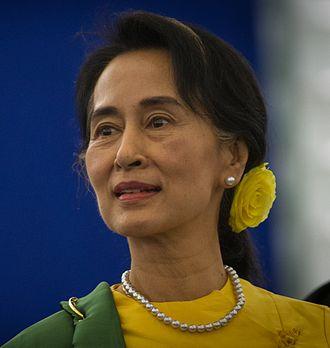 State Counsellor of Myanmar - Image: Remise du Prix Sakharov à Aung San Suu Kyi Strasbourg 22 octobre 2013 04 (cropped)