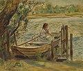 Renoir - Jeune femme dans une barque, 1870.jpg