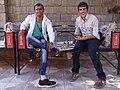 Restaurant Staff on a Break - Nur Abad - Southwestern Iran (7424775934).jpg