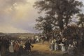Review in Ladugårdsgärde Fields during Czar Nicolaus' Visit in 1838 (Carl Stefan Bennet) - Nationalmuseum - 21902.tif