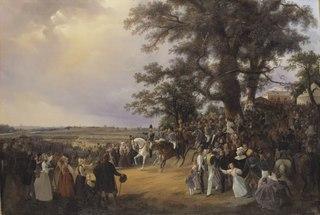 Review in Ladugårdsgärde Fields during Czar Nicolaus' Visit in 1838