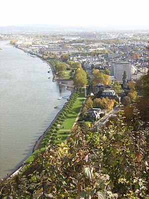 Andernach - Image: Rheinlagen Andernach