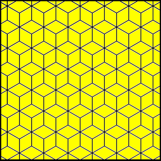 Truncated trihexagonal tiling - The related rhombille tiling becomes the kisrhombille by cutting each rhombic face along its diagonals into four triangular faces