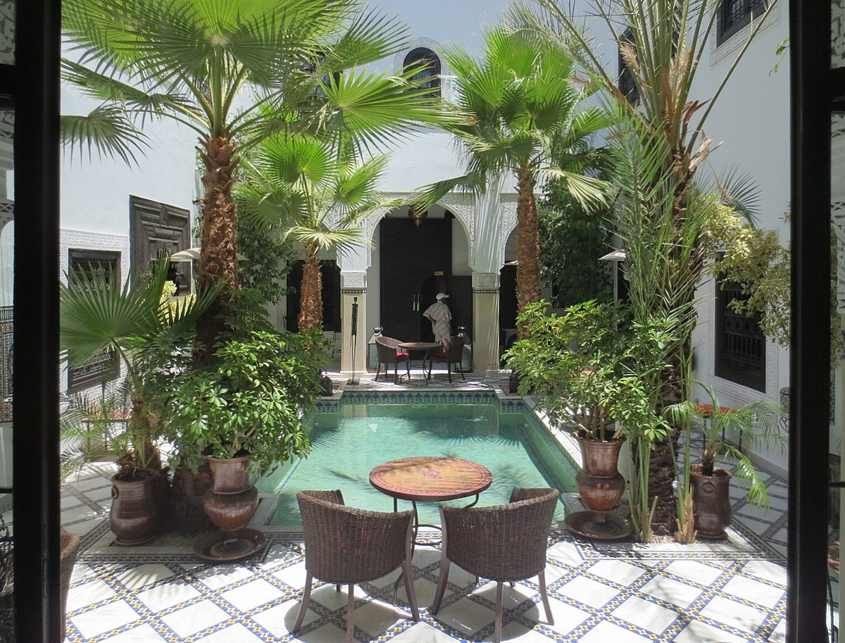 Riad on Spanish House Plans With Courtyard
