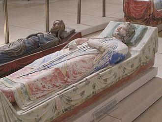 Fontevraud Abbey - Tomb of Richard I of England (front) and Isabella of Angoulême (back)