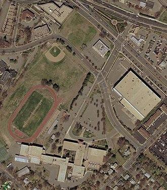 Richard Montgomery High School - Aerial view in 2005