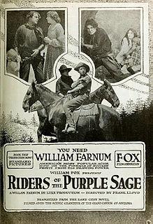 <i>Riders of the Purple Sage</i> (1918 film) 1918 film by Frank Lloyd