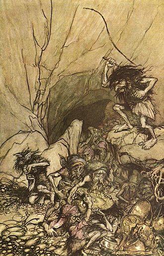 Alberich - Alberich, by Arthur Rackham.