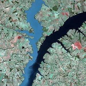 Rio Parana by SPOT Satellite