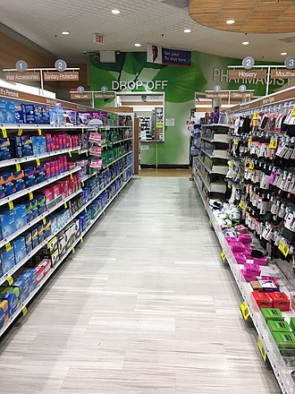 Rite Aid - Interior of a Rite Aid store in San Ramon, California in March 2017