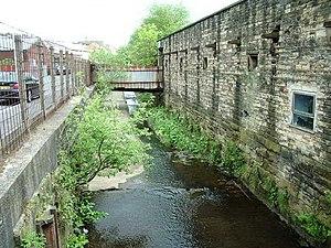 River Blakewater, Lancashire - River Blakewater in Blackburn