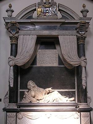 William Stanton (mason) - William Stanton, 1694 memorial to Thomas Savage, 3rd Earl Rivers in St Michael's Church, Macclesfield, Cheshire, UK.