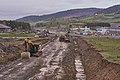 Road construction at E14 by Rudshøgda, Hedmark, Norway.jpg