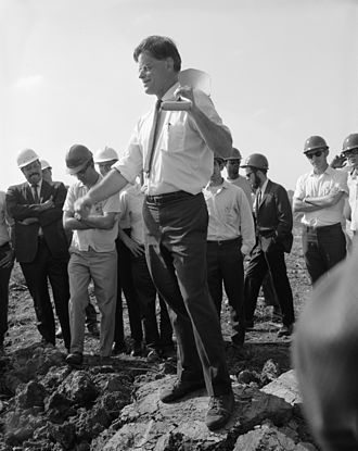 Robert R. Wilson - Robert R. Wilson at the Fermilab groundbreaking ceremony