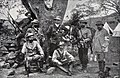 Robert Jutrzenka and Ludwik Zalewski (they are sitting) as soldiers of the German corps during the siege of Kimberley by the Boers in 1899.jpg