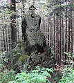 Rock with cross in Šumava region.jpg